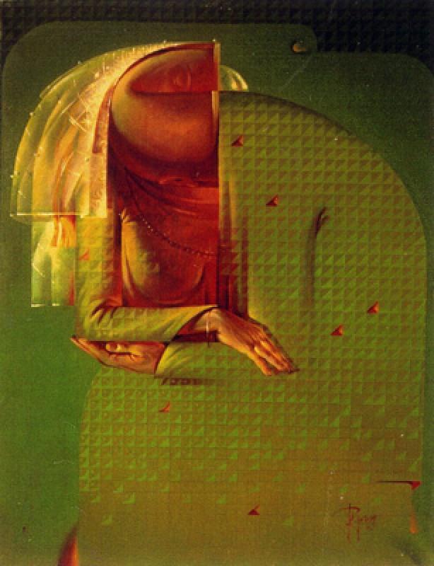 "Viktor Musi. ""Baiser.""1995. huile sur toile. 100 X 80."