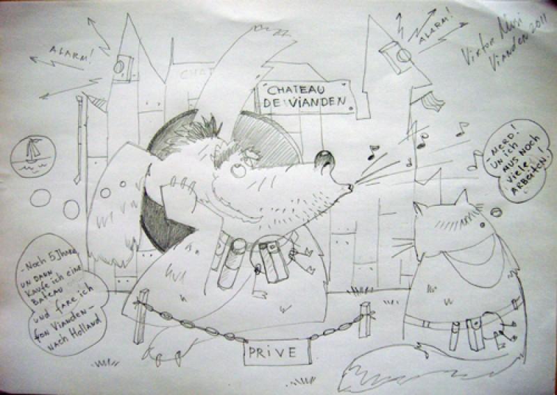 """Viktor Musi. Serie """"A mes Amies."""" 2011. crayon sur papier. 21 X 29,7"""